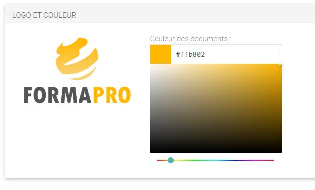 Extranet Intervenants personnalisé aux couleurs et logo de l'organisme de formation